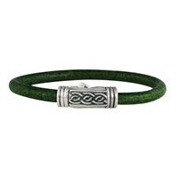 Laura Leather Bracelet in Sterling Silver