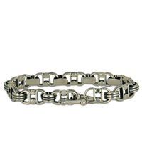 Double D Bracelet in Sterling Silver
