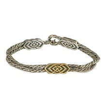 Skyler Bracelet in 14K Yellow Gold Design w Sterling Silver Base