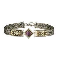 Iona Bracelet with Gem in Amethyst