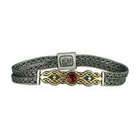 Flow Gem Bracelet in Garnet