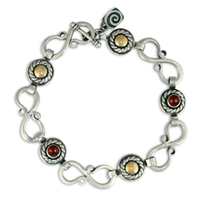 Seville Bracelet with Gems in Garnet