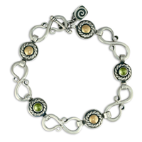 Seville Bracelet with Gems in Peridot