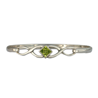 Twist Bracelet in Peridot