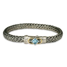 Deco Bracelet in Swiss Blue Topaz