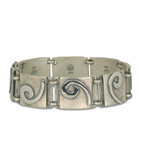 Industrial Swirl Bracelet Small in Sterling Silver
