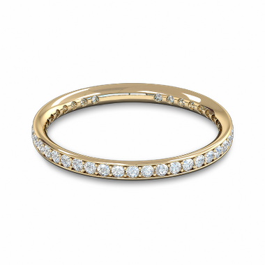 Fairtrade Gold Diamond Full Eternity Ring  in 18K Yellow Gold