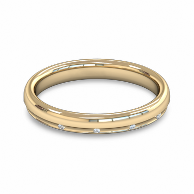 Fairtrade Gold Court Women s Wedding Ring with Diamond in 18K Yellow Gold