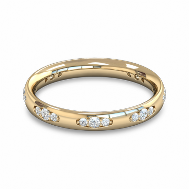 Fairtrade Gold Vintage Style Women s Wedding Ring with Diamond in 18K Yellow Gold