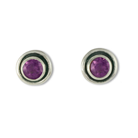 Eclipse Stone Earrings in Amethyst