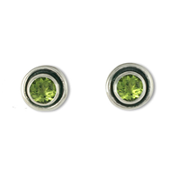 Eclipse Stone Earrings in Peridot