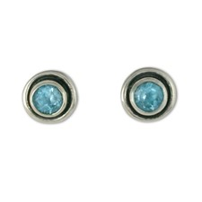 Eclipse Stone Earrings in Sterling Silver