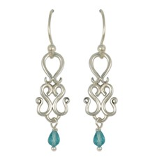 Manasa Dangle Earrings in Sterling Silver