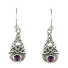 Blue Moon Earrings in Amethyst