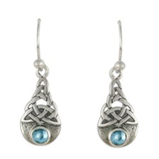 Blue Moon Earrings in Swiss Blue Topaz