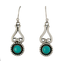 Rolling Moon Earrings in Turquoise