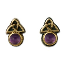 Aria Round Earrings in Amethyst