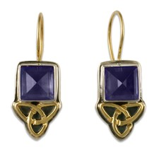 Aria Square Earrings in Iolite