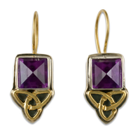 Aria Square Earrings in Amethyst