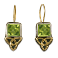 Aria Square Earrings in Peridot