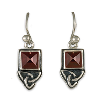 Aria Square Earrings in Sterling Silver