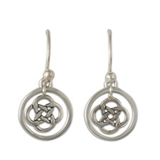Sita Circle Earrings in Sterling Silver