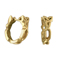 Trinity Cuff Earrings in 14K Yellow Gold