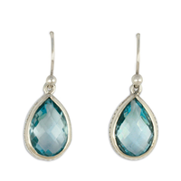 Briolette Earrings in Sky Blue Topaz