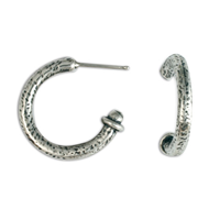 Playa Hoop Silver Earrings in Sterling Silver