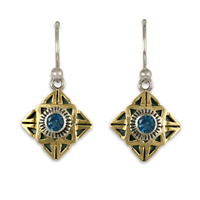 Medina Earrings in London Blue Topaz