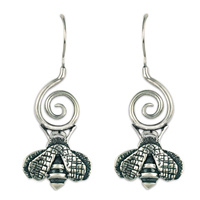 Bee Symphony Earrings in Sterling Silver