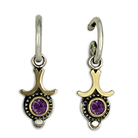 Morning Star Earrings in Amethyst