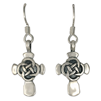 Sita Cross Earrings in Sterling Silver