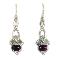 Lovinity Earrings with Gem in Amethyst