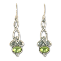 Lovinity Earrings with Gem in Peridot