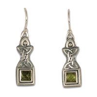 Aedan Earrings in Peridot