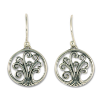 Tree of Life Earrings Mini  in Sterling Silver