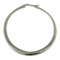 Hoop Earrings 45mm in Sterling Silver