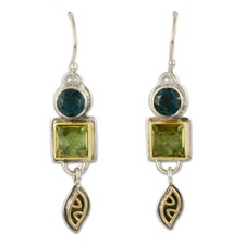 Danu s Earrings in 14K Yellow Gold Design w Sterling Silver Base