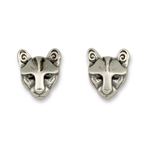 Mountain Lion Extra Small Studs in Sterling Silver