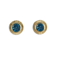 Keltie Stud Earrings in London Blue Topaz