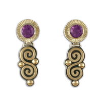 Keltie Dangle Earrings in Amethyst