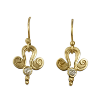 Iris Earrings in 18K Yellow Gold
