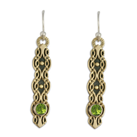 Flow Earrings with Gem in Peridot