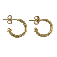 Gold Hoop Earring 13MM in 14K Yellow Gold