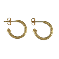 Gold Hoop Earring 15MM in 14K Yellow Gold