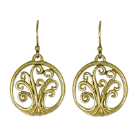 Tree of Life Earrings Mini in 18K Yellow Gold