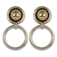 Sol Earrrings in 14K Yellow Gold Design w Sterling Silver Base