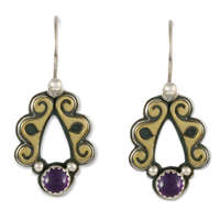 Ravena Earrings in Amethyst