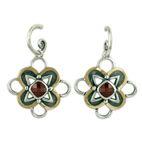 Vega Earrings in Garnet